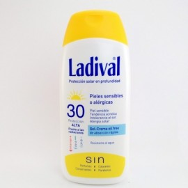 LADIVAL GEL-CREMA OIL FREE SPF 30 200ML.