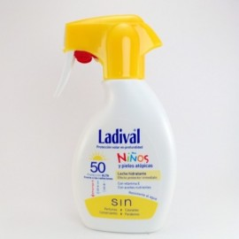 LADIVAL NIÑOS SPRAY PISTOLA LECHE SPF 50+ 200ML.
