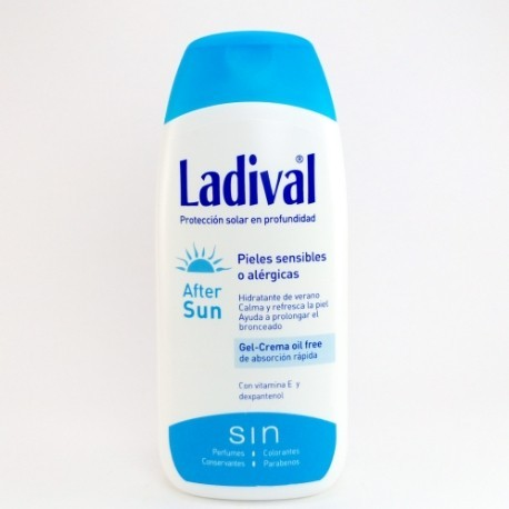 LADIVAL AFTER SUN GEL-CREMA OIL FREE 200ML.