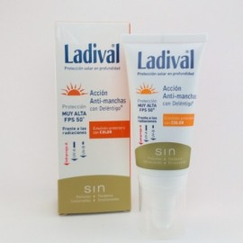 LADIVAL EMULSION PROTECTORA ANTI MANCHAS CON COLOR  SPF 50+ 50ML.