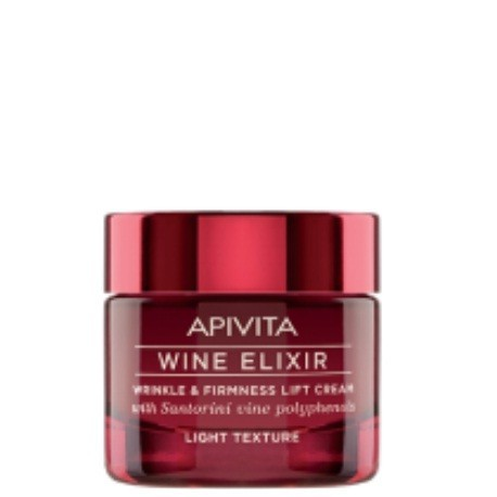 APIVITA WINE ELIXIR CREMA ANTIARRUGAS REAFIRMANTE TEXTURA LIGHT 50 ML.