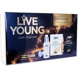 ISDIN LIVEYOUNG PACK ISDIN AGE REPAIR FUSION WATER + FLAVO-C ULTRAGLICAN 10 AMPOLLAS +FLAVO-C MELATONIN 10 AMPOLLAS