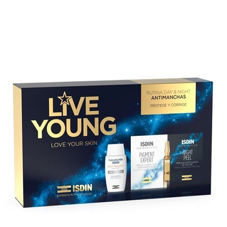 ISDIN PACK LIVE YOUNG PACK ANTIMANCHAS SPOT PREVENT + PIGMENT EXPERT / NIGHT PEEL 10+10 AMP