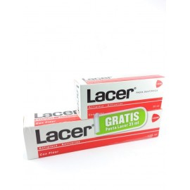 LACER PASTA DENTAL ANTICARIES CON FLUOR 125ML. + PASTA 35 ML. GRATIS